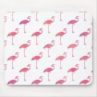 Pink Purple Flamingo Watercolor Tropical Flamingos Mouse Pad