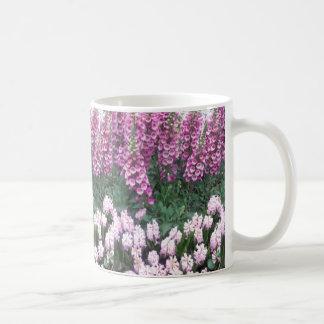 PINK Purple Flower Show: Love Sensual Romance Gift Classic White Coffee Mug