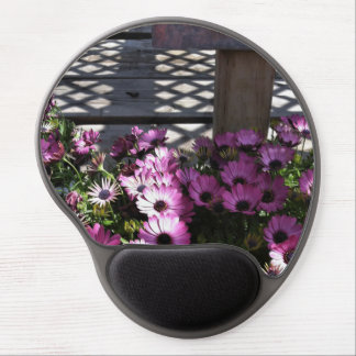 Pink Purple Flowers Gel Mouse Pad