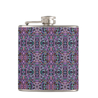 Pink Purple Geometric Flasks