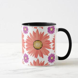 Pink Purple Gerber Daisy Flowers Floral Pattern Mug