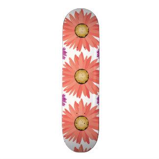 Pink Purple Gerber Daisy Flowers Floral Pattern Skate Board