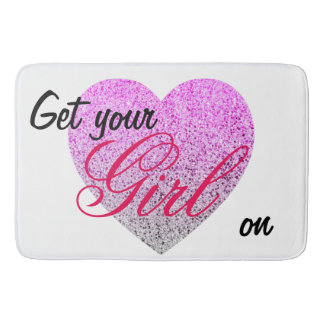 PINK PURPLE - GET YOUR GIRL ON - TEMPLATE BATH MAT