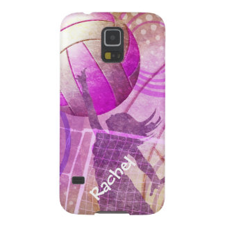 Pink Purple Girly Volleyball girls name Cases For Galaxy S5