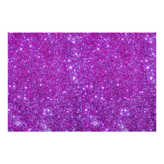 Pink Purple Glitter Sparkle Custom Design Poster