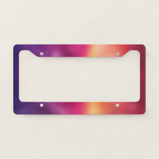 Pink Purple Gradient Blur Abstract Background License Plate Frame