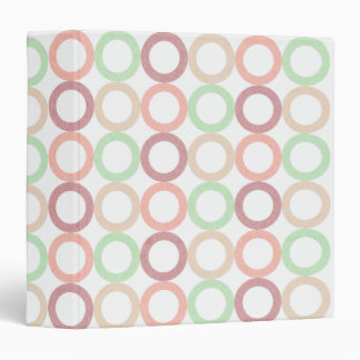 Pink Purple Green Pastel Circle Outlines Pattern Binders