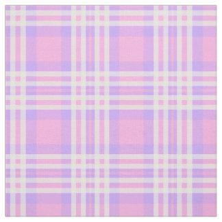 Pink Purple Lavender Plaid Gingham Check Girl Fabric