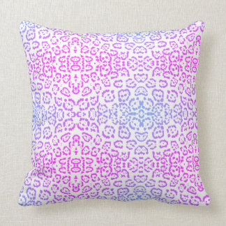 Pink Purple Leopard Cat Animal Print 2 Throw Pillow