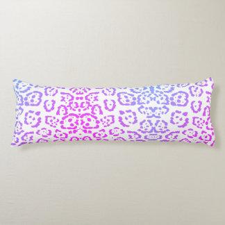 Pink Purple Leopard Cat Animal Print Body Pillow