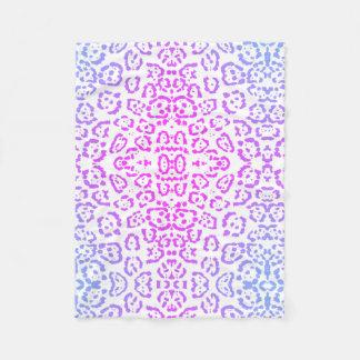 Pink Purple Leopard Cat Animal Print Fleece Blanket