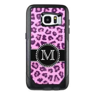 Pink, Purple, Leopard Skin Monogrammed