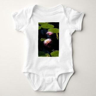 Pink Purple Lotus Waterlilies Baby Bodysuit