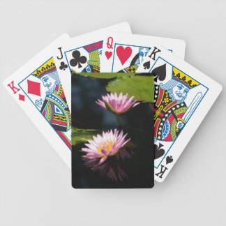 Pink Purple Lotus Waterlilies Bicycle Playing Cards
