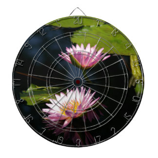 Pink Purple Lotus Waterlilies Dartboard