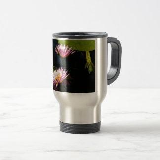 Pink Purple Lotus Waterlilies Travel Mug