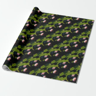 Pink Purple Lotus Waterlilies Wrapping Paper