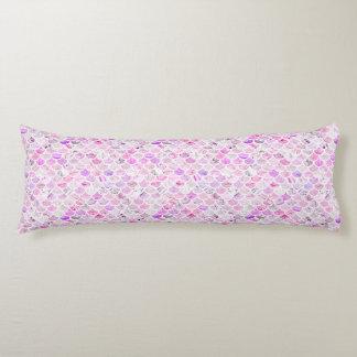Pink & Purple Marble Mermaid Scales Body Pillow
