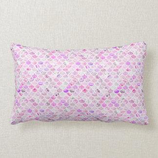 Pink & Purple Marble Mermaid Scales Lumbar Pillow