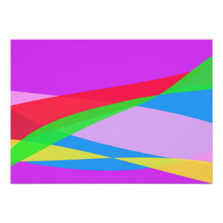 Pink Purple Minimalism Abstract Art Personalized Announcement