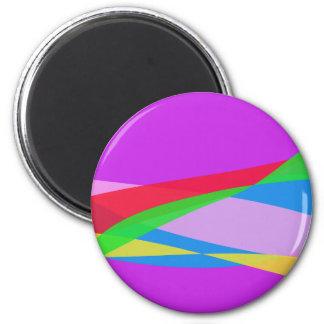 Pink Purple Minimalism Abstract Art Fridge Magnets