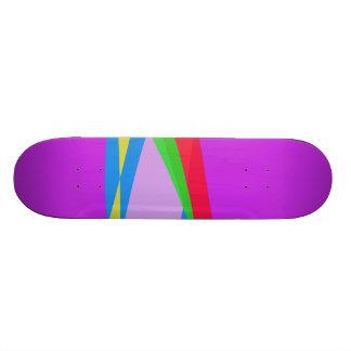 Pink Purple Minimalism Abstract Art Skate Board