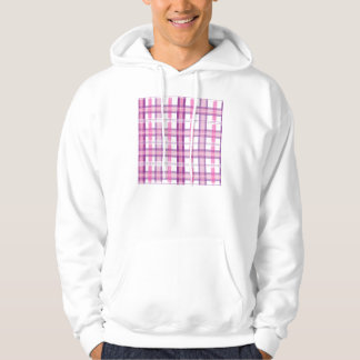 Pink & Purple Modern Plaid Design Hoodie
