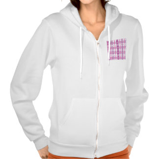 Pink Purple Modern Plaid Design Hooded Pullovers