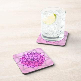 Pink & Purple Om Lotus Mandala Coaster