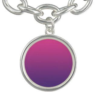 Pink & Purple Ombre Charm Bracelet