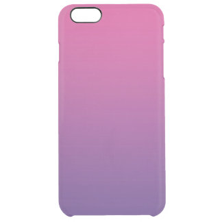 Pink & Purple Ombre Clear iPhone 6 Plus Case