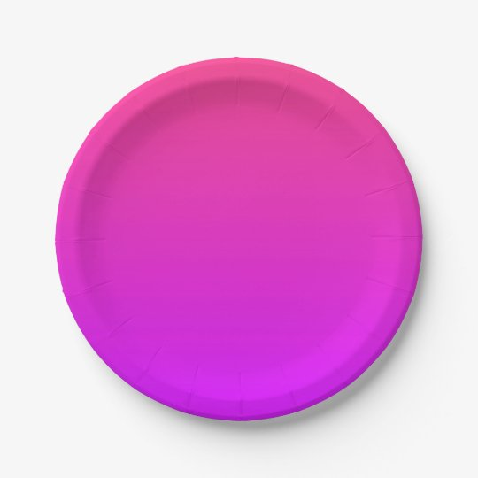 Pink/Purple Ombre Small Paper Plates 7 Inch Paper Plate