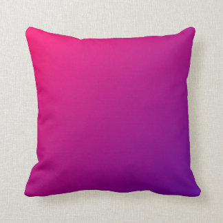 Pink Purple Ombre Throw Pillow