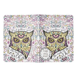 Pink, Purple Owl Follow You to the Ends of Earth Extra Large Moleskine Notebook