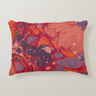 Pink & Purple Paint Swirl Abstract Pillow