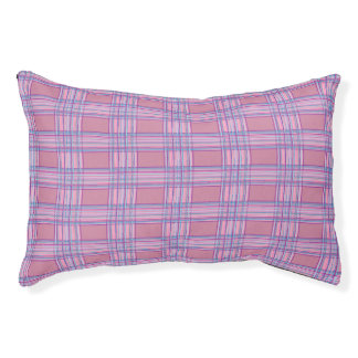 pink purple plaid dog bed small dog bed