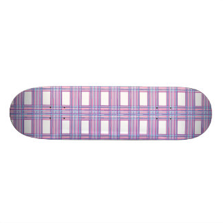pink purple plaid skateboard