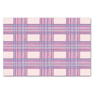 pink purple plaid tissue paper