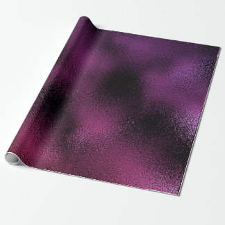 Pink Purple Plum Black Glass Glam Shiny