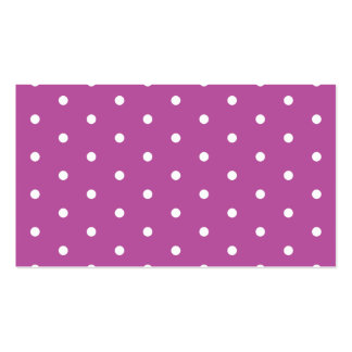 Pink Purple Polka Dots Girl's Birthday Pattern Business Card