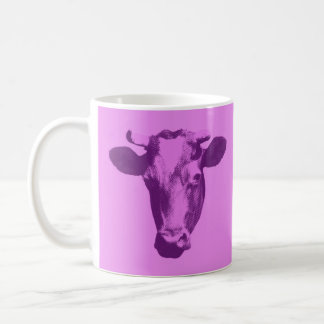 Pink & Purple Pop Art Cow Coffee Mug