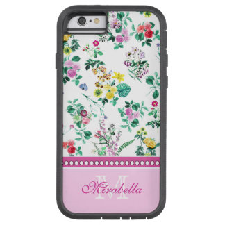Pink purple red yellow wildflowers & roses, name tough xtreme iPhone 6 case