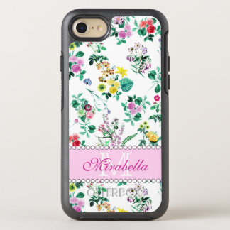 Pink purple red yellow wildflowers & roses, named OtterBox symmetry iPhone 8/7 case