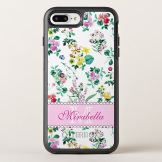 Pink purple red yellow wildflowers & roses, named OtterBox symmetry iPhone 8 plus/7 plus case