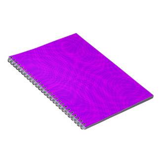 Pink & Purple Ripple Moiré Spiral Note Book