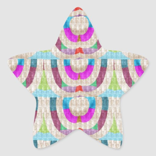 PINK Purple Sparkle Circle ETHNIC Wedding Deco ART Star Sticker
