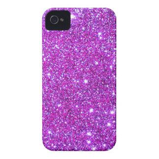 Pink Purple Sparkly Glam Glitter Designer iPhone 4 Case