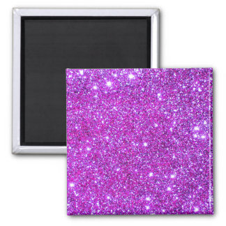 Pink Purple Sparkly Glam Glitter Designer Magnet