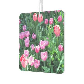 Pink Purple Springtime Spring Tulips Flower Floral Air Freshener