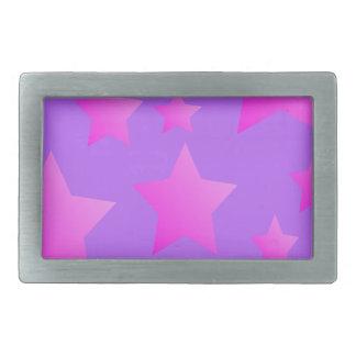 Pink/Purple Star Pattern Belt Buckle
